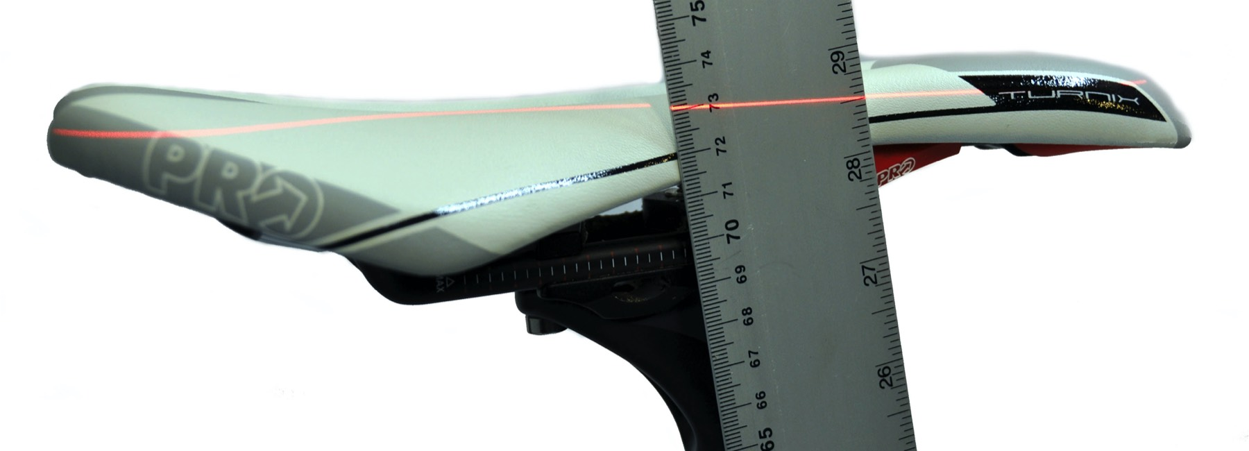 showing saddle height measurement